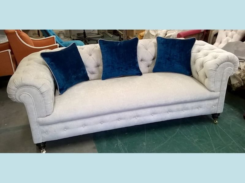 Victorian 3str deep buttoned Chesterfield sofa NJH Upholstery Bristol